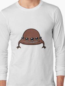 Funny cartoon brown alien Long Sleeve T-Shirt