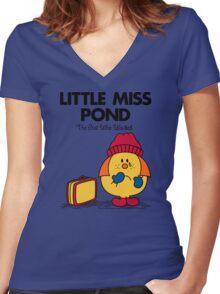 Little Miss Pond Women's Fitted V-Neck T-Shirt