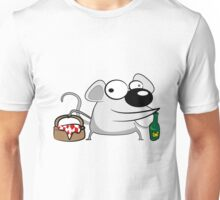 Funny cartoon mouse Unisex T-Shirt