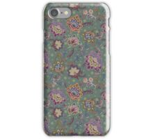 Paisley flowers green iPhone Case/Skin