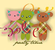 Trio Rio Friends Invitation Card by Rencha