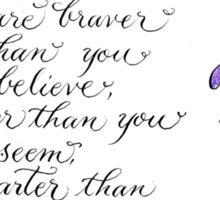 Inspirational quote calligraphy art Always remember Sticker