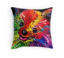 Rainbow Pomeranian Throw Pillow