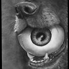 Dog and Eye Ball by artbyalycia