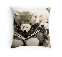 the tale of two bears Throw Pillow