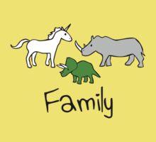 Family - Unicorn, Rhino, Triceratops Kids Clothes