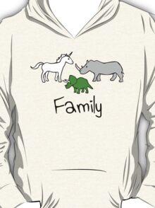 Family - Unicorn, Rhino, Triceratops T-Shirt