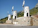 Windmills on Crete by imagic