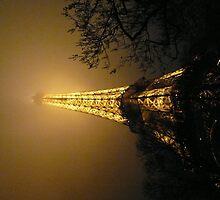 night eiffel tower by nicandgil
