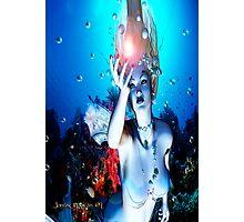 Mermaid Illustration Scene # 1 Photographic Print