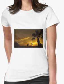 Golden Sky Womens Fitted T-Shirt