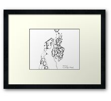 Homage to Tanguy - pigment ink on paper Framed Print