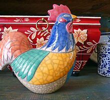 """Country Rooster Still Life"" by franticflagwave"