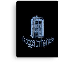 Get to the Tardis! Canvas Print
