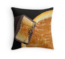 Chocolate Orange Throw Pillow