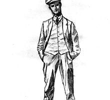 """James Joyce - sketch; (Bloomsday - """"Ulysses"""") by OnaVonVerdoux"""