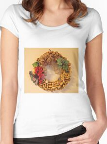 Cork Wreath Women's Fitted Scoop T-Shirt