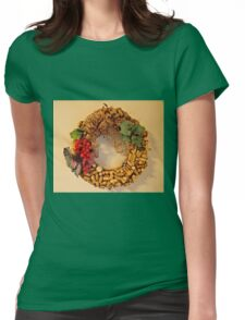 Cork Wreath Womens Fitted T-Shirt