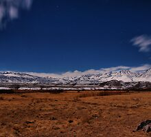 Owens Valley by Moonlight by Chris Morrison