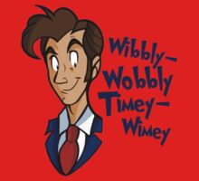 Dr. Seuss of Gallifrey: Wibbly-Wobbly Timey Wimey Kids Clothes