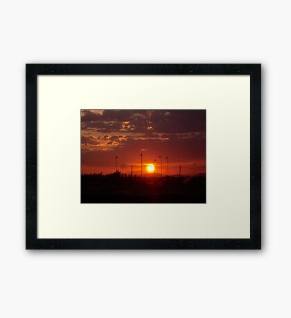 Stadium Sunrise Framed Print
