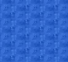 Ultramarine Square Pixel Color Accent by SaraValor