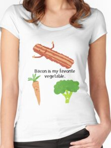 Bacon is My Favorite Vegetable Women's Fitted Scoop T-Shirt