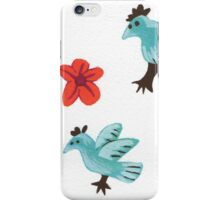 birds and flowers iPhone Case/Skin
