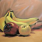 Bananas and Apples in Repose by Kenneth Young