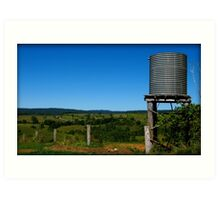 Water on the Hills - Mungalli Dairy, Nth Qld Art Print