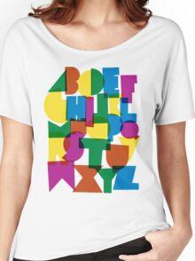Paper alphabet Women's Relaxed Fit T-Shirt
