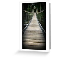 Suspended Over Mena - Mena Creek, Nth Qld Greeting Card