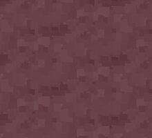 Deep Mahogany Square Pixel Color Accent by SaraValor