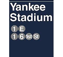 Yankee Stadium Subway Sign w Photographic Print