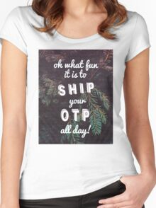 Oh What Fun it is To Ship Women's Fitted Scoop T-Shirt
