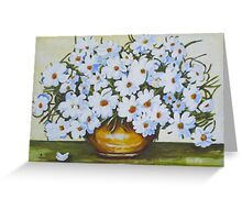 Golden Urn of White Daisies Greeting Card