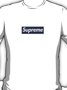 Supreme Navy Box Logo T-Shirt