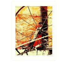 B&W Terra Cotta Wheel Art Print