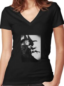 wicked witch Women's Fitted V-Neck T-Shirt
