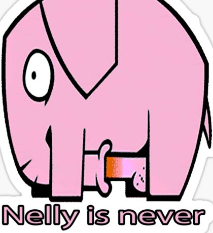 Nelly is never bored. Sticker