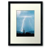 Lightning Rain Framed Print
