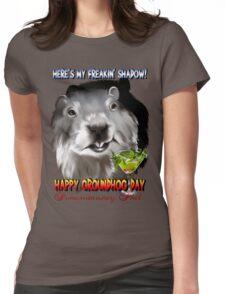 Punxsutawney Phil's Shadow Womens Fitted T-Shirt