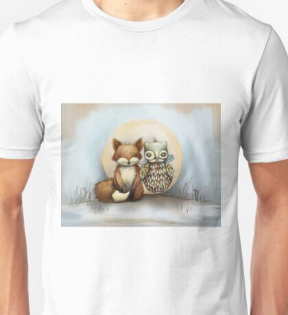 fox and owl Unisex T-Shirt