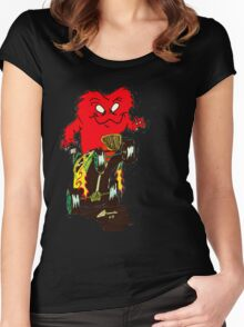 hot rod monster Women's Fitted Scoop T-Shirt