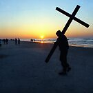 Easter Service on Beach by Thomas Turney