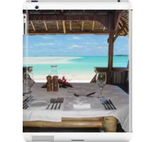 seaside dining iPad Case/Skin