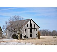 Rural Selma Gray Barn Photographic Print