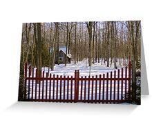 Gated Community Greeting Card