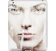 Artistic portrait of woman face overlayed on nature scenery art photo print iPad Case/Skin
