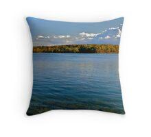 Autumn on the River Throw Pillow